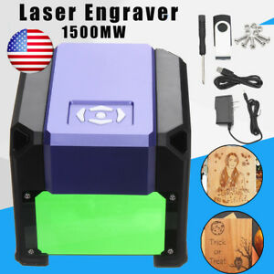 Us 1500mw Usb Laser Engraver Diy Logo Mark Printer Cutter Carver Machine Fast