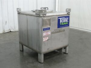 Tote Tank 516927 Stainless Steal Tote 350 Gallon d5832