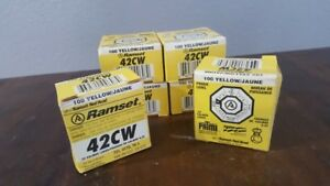 Lot 6 Boxes Ramset 42cw Red Head 22 Caliber 4 Loads charges 100 Per Box