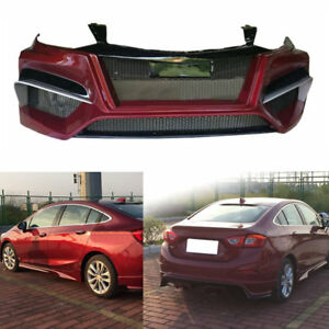 Resin Matte Black Front Rear Bumper Side Bodykit For Chevrolet Cruze 2016 2017
