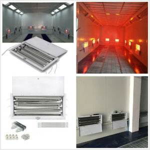 2 X 3000w Car Truck Spray Baking Booth Oven Infrared Paint Heater Heating Lights