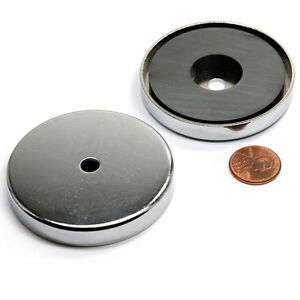 Cms Magnetics 50 Lb H Power Ceramic Cup Magnet 2 4 Magnetic Round Base Rb60