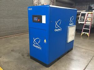 Quincy Qgb 50 50 Hp Screw Air Compressor Fully Serviced Tested 206 Cfm 125 Psi