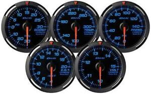 Defi Df06501 Blue Racer Gauge Boost Gauge Black Blue 30inhg 30psi 52mm