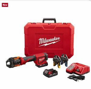 Milwaukee 2674 22p M18 Short Throw Press Tool Kit W Viega Pureflow Jaws