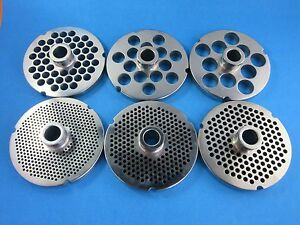 Pick Your Size 52 S steel Meat Grinder Plate W Hub Hobart 4152 4552 4752 4352