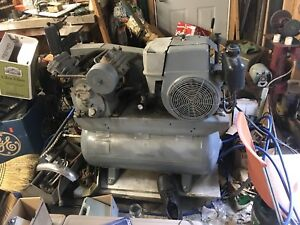 Ingersoll rand T30 Air Compressor Mobile Unit Gas Motor Working