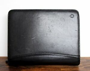 Franklin Covey Black Leather Business Organizer Planner Binder 7x1 5 r 10 x8
