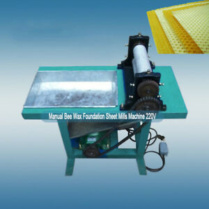 Manual Bee Wax Foundation Sheet Mills Machine 220v Livestock Supplies Quality