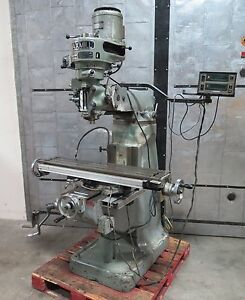 Maxmill Vertical Mill Milling Machine 9x42 Mitutoyo Dro Bridgeport Style 1 Phase
