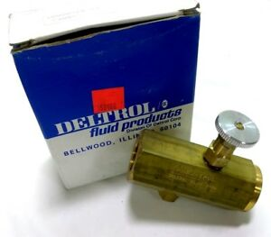 New Deltrol F30bk Air hydraulic Flow Control Valve 2000psi 1 2 Npt Brass