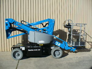 2018 Genie Z 33 18 Articulating Boom Aerial Man Lift Scissor Personnel Electric