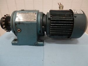 Sew eurodrive Dft71d4 Electric Motor 5hp 1700rpm 3ph With Reducer 56 17