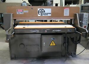 Associated Pacific 30 Ton Die Cutter Clicker Press Die Cutting Machine 24 x 60