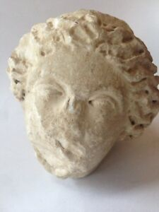 Genuine Ancient Greek Marble Sculpture Woman S Head Beautiful Rare Antiquity