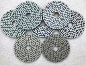 Diamond Polishing Pads 4 Set For Granite Concrete Stone Polishing Pack Of 35
