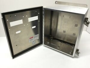 Hoffman A 12106chal Aluminum Electrical Enclosure Junction Box 12x10x6 holes