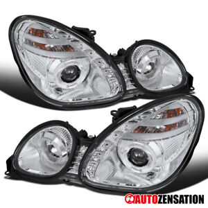 For 1998 2005 Lexus Gs300 gs400 Pair Smd Led Drl Clear Halo Projector Headlights