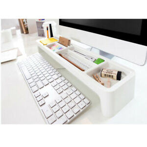 Desktop Organizer Box Desk Storage Pencil Holder Stationery Organizer Tray White
