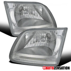 For Ford 1997 2002 Expedition 1997 2003 F150 Led Drl Clear Headlights Lamps Pair