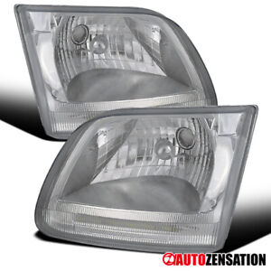 For Ford 1997 2002 Expedition 1997 2003 F 150 Clear Lens Headlights Lamps Pair