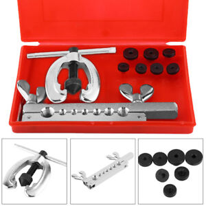10pcs Metric Pipe Flaring Tool Kit Mechanic Brake Plumber Set For Car Truck Us