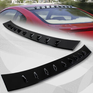 For 2003 2007 Infiniti G35 Coupe Black Shark Fin Rear Roof Vortex Spoiler Wing