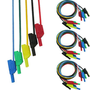 5 10 15pcs Cleqee Banana To Banana Multimeter Test Cable Lead 5 Color