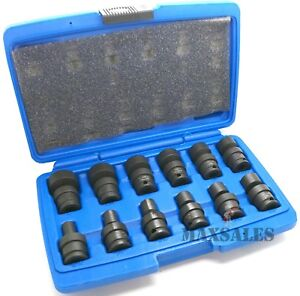 12 Pc 3 8 Dr Shallow Universal Impact Ball Swivel Socket Set sae