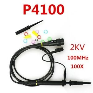 New 2pcs P4100 Probe High Voltage 2kv 2000v Oscilloscope Scope Probe 100mhz