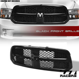 For 2013 2017 Dodge Ram 1500 Glossy Black Oe Honeycomb Mesh Front Bumper Grille