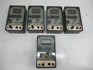 Lot Of 5 Vintage Lab Electronics Test Unit Intersil Chip Decimal Point Steampunk