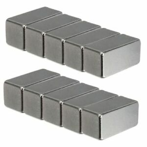 5 10 25 20x10x10mm Super Strong Block Fridge Magnets Rare Earth Neodymium N48