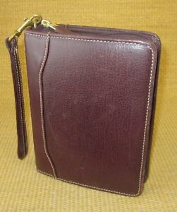 Compact 1 25 Gold rings Eggplant Leather Franklin Covey quest Planner binder