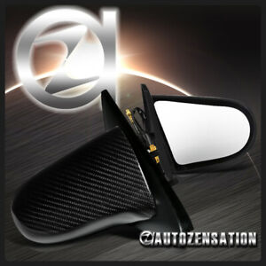 For 1992 1995 Honda Civic 2 3dr Real Carbon Black Spoon Power Mirrors Left right