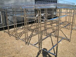 75 Feet Of Commercial Grade Econo H Style Double Rail Clothing Racks W Baskets