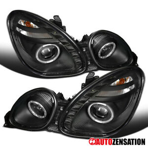 For 1998 2005 Lexus Gs300 gs430 Pair Smd Led Drl Black Halo Projector Headlights