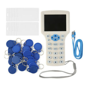 Full featured Rfid Copier Id ic Card Reader writer 10 Cards 20 Tags Utensil
