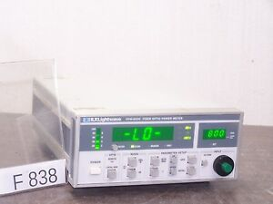 Newport Ilx Lightwave Fpm 8200 Fiber Optic Power Meter Input Fc pc St F838