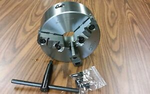8 3 jaw Self centering Lathe Chucks W Top bottom Jaws Plain Back 0803f0 new