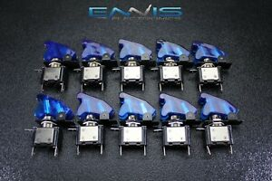 10 Pcs Toggle Switch On Off Blue Mini Led 12v 20 Amp Race Nitrous Eps 3015bl