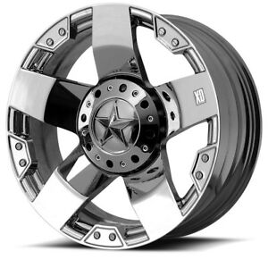 20 Xd Series Xd775 Rockstar Chrome Wheel 20x10 8x170 24mm Ford F250 F350 8 Lug