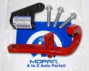 New 13 18 Jeep Wrangler Rubicon Jk Right Rear Bumper Tow Hook Assembly Kit Oem