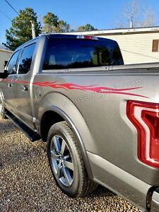 Solid Flames Flame Stripe Decals Decal F150 250 350 Fx4 Truck Harley Edition