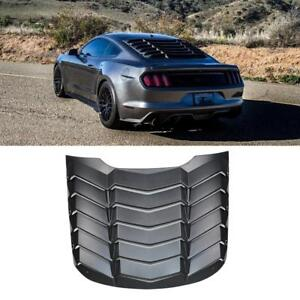Rear Window Louver Matte Black Cover Abs For Ford Mustang 2015 2017