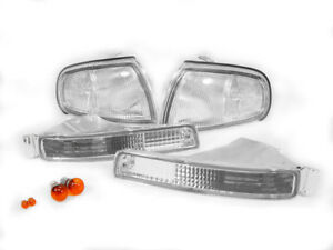 Combo Depo Clear Front Corner bumper Signal Light Bulbs For 95 96 Toyota Camry