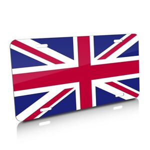 Union Jack Uk Color Flag Auto Marque License Plate