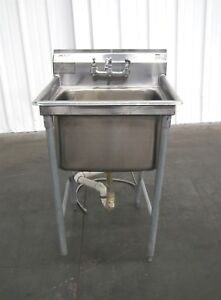 Eagle 414 24 1 Stainless Steel Sink Model 24 X 24 X 13 e6299