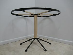 Vintage Mid Century Round Iron Pedestal Dining Table Base