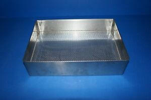 Stainless Steel Instrument Tray For Sterilization 15x10 5x3 5